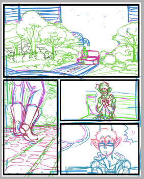 Space School Page WIP by DarkChibiShadow