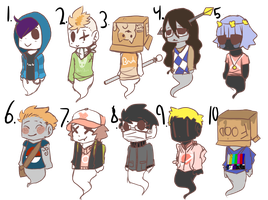 ghost point adoptables by UTERI