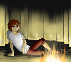 Evan by the fire by 1STW