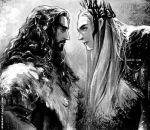 Thorin and Thranduil by evankart
