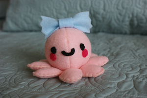 Baby Octopus Plushie + Tutorial~Template Link by NinaFoFina