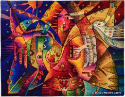 Hand-woven Tapestry: Beloved Lover by Maximo Laura by Maximo-Laura