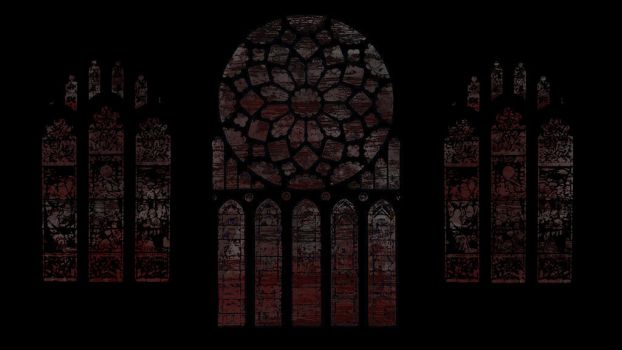 Stained Glass, Dark, Scary by david-shultz