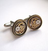 Mechanical Cufflinks Model Thirty Four by AMechanicalMind