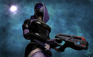 Tali Zorah Vas Normandy by MontiMirko85