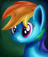 Rainbow Dash Portrait by Uber--Dragon