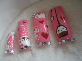 Cup Of Tea Nail Design by OkBear