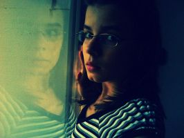 looking out of the window by esztih