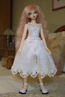 venetian lace dress for minifees by CandyKittensEmporium
