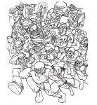 Line Art Large Group Example by BlueBandanaJake