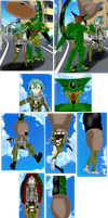 Cell Absorbs Sinon by SoleSwallower