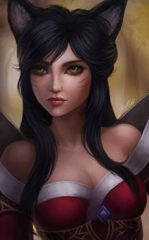 Ahri by Kittrix