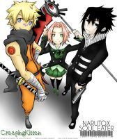 Naruto x Soul Eater by CreepingKitten