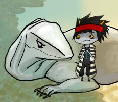 Deimos With Nasty Lizard Dad by Chardarble