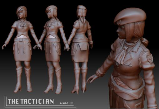 ZBrush Character - Tactician by bchart