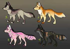 Collab Adopts.1 - Canines by Onyxeva