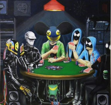 Composers Playing Poker by King-Kandie