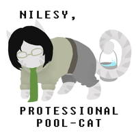 Nilesy, protessional pool cat by Geheimnis19
