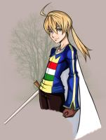 Cel Shaded: Ramza by lbenologa