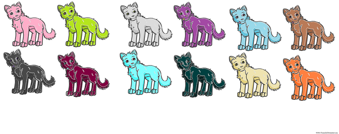 2 pt. Dog Adoptables (please no free use) by sparkly-blonde