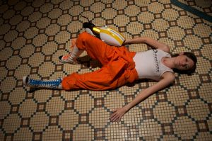 Chell Cosplay - Game Over by des-igner