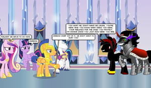 Dark Shadow and Sombra Invades The Crystal Empire by CyrilSmith