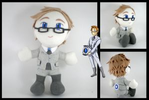 Humanized Wheatley plushie by eitanya