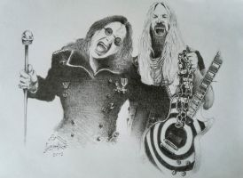 Zakk wylde and Ozzy Osbourne by Toxinman