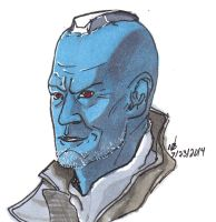 Yondu Udonta Copics and Sharpie sketch by ConstantM0tion