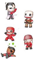 RED Sackboys 2 by letterw