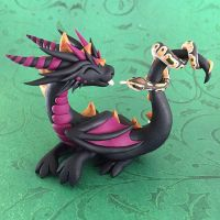 Dragon with Ball Python by DragonsAndBeasties