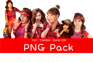 Yuri Sunny Taeyeon Oh! Korean Version PNG Pack by SunShiner9