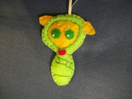 APPLEJACK BABY HANDSEWN PONY ORNAMENT by grandmoonma