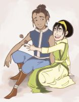 Sokka and Toph by JpMcreate