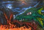 Dragon airbrush painting by s0lar1x