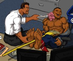 Late-night in the office  (M/M) by KitELcat