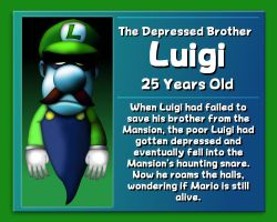 Luigi: The Depressed Brother by GEO-GIMP