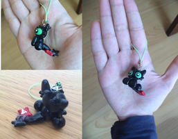 Toothless Polymer clay by xxPandaGirl16xx