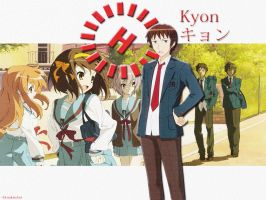 Kyon Wallpaper by DrunkenAnt