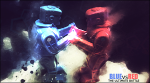 Red Vs Blue by BloodAmok