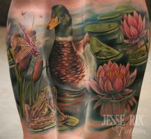duck tattoo by jesserix
