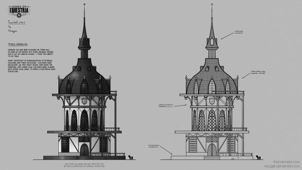 Ponyville Town Hall (Pre-industrial) by Mozgan