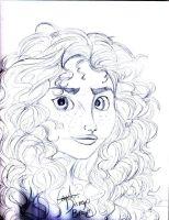 Disney's BRAVE : Merida sketch by MariaNikamn