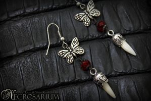 Vampire Fang Earrings by Necrosarium