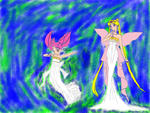 Neo Queen Serenity and Princess Rini by epicShadowdragon