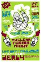 Nuclear Fusion Night Flyer by Jawa-Tron