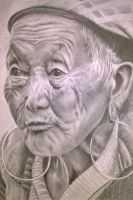Old lady portrait by donnabe