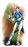 Speed painted Chun Li by droxus7