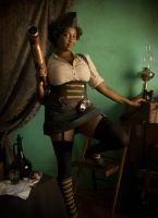 Steampunk - Pin-up 2 by blackbettie