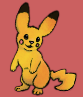 Fluffy Pikachu by RunningSpud